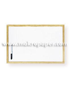 Pizarra blanca Makro marco de madera 90x120