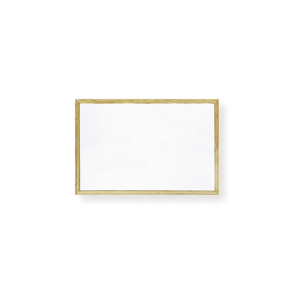 Pizarra blanca Makro marco madera 40x30