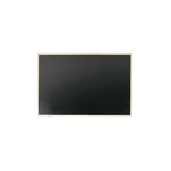 Pizarra negra Makro con marco de madera 90x60