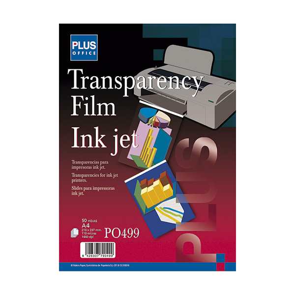Transparencia film inkjet Plus 1440 dpi A4