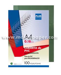 Tapas encuadernar Plus PVC A4 humo transluc.(100)