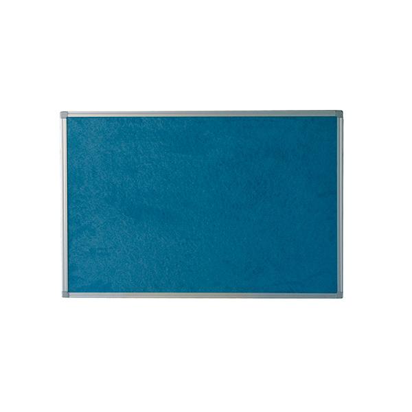 Tablero moqueta azul Makro marco aluminio 60x90cm