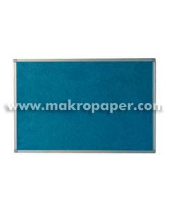Tablero moqueta azul Makro marco aluminio 90x120cm