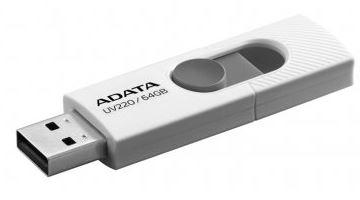 Pen drive Adata deslizante 64GB blanco/gris