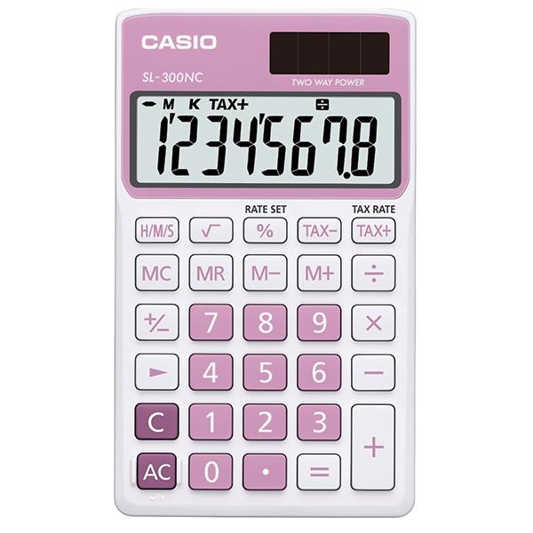 Calculadora Casio SL300NC Rosa