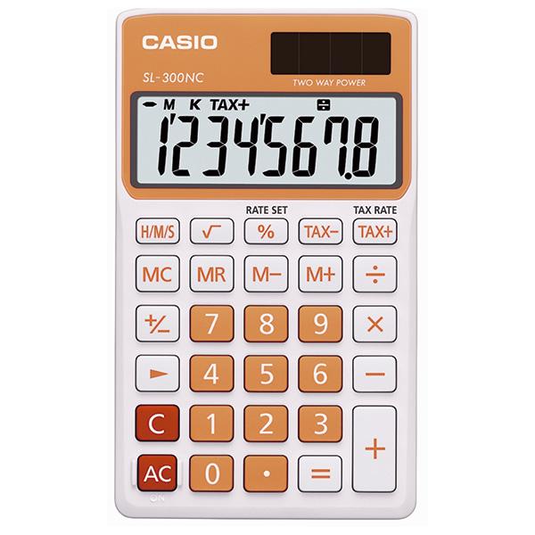 Calculadora Casio SL300NC naranja