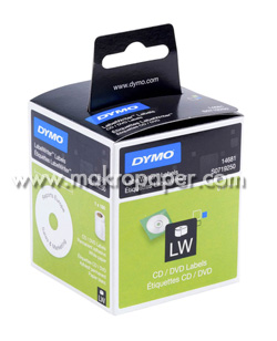 Cinta Dymo térmica Labelwriter Diámetro 57mm. Blanco/Papel.