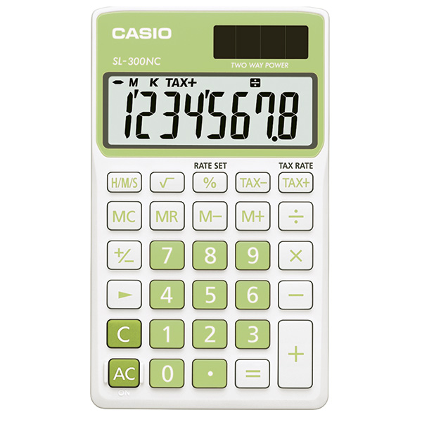 Calculadora Casio SL300VC verde
