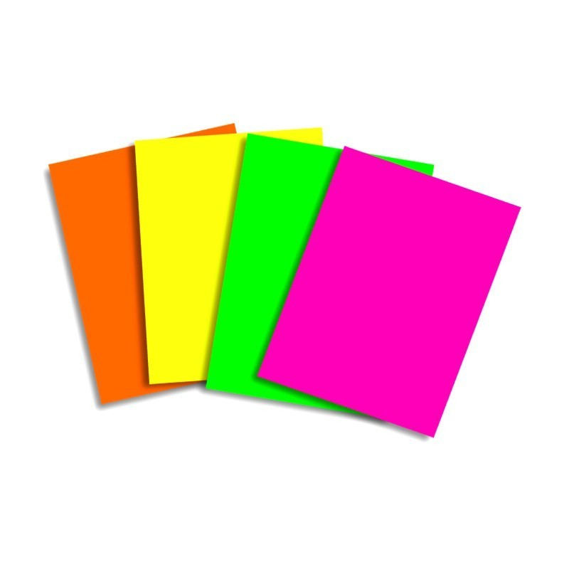 Papel color A4 80gr Rosa fluor (500h)