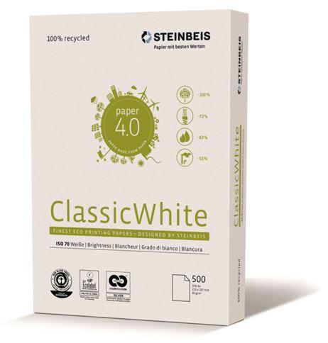 Papel reciclado Classic White A4 80gr 500h