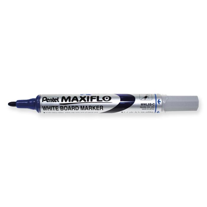 Marcador pizarra blanca Pentel Maxiflo azul
