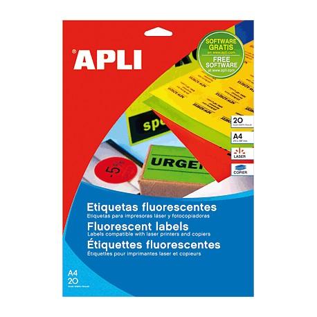 Apli et.adhe. fluorescent vermell 64x33.9