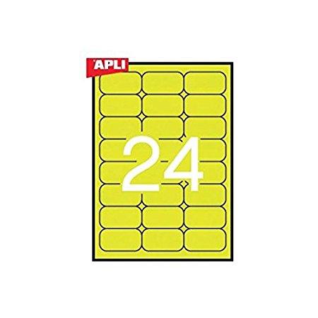 Apli etiqueta fluorescente amarillo 64X33.9