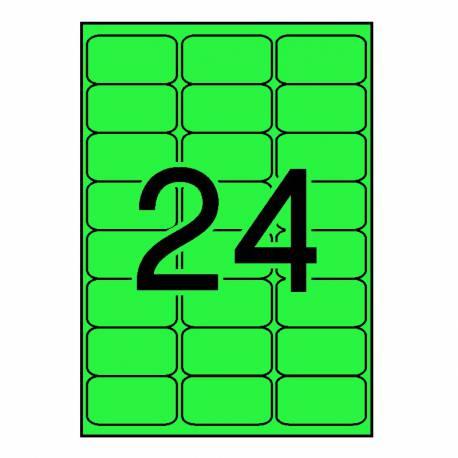 Apli etiqueta fluorescente verde 64X33.9