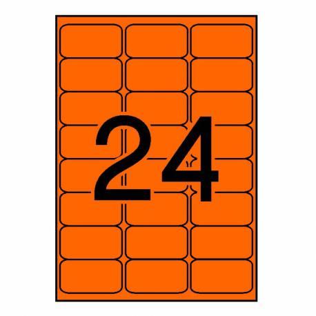 Apli etiqueta fluorescente naranja 64X33.9