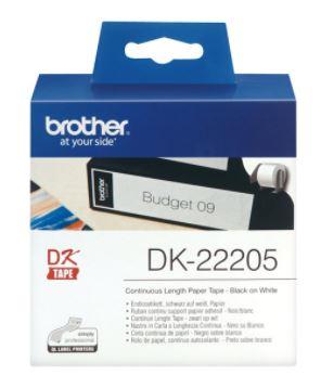 Brother DK22205 rollo etiq. blanca continua QL 62mmx30.5m