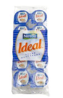 Envase 10 porciones leche evaporizada 7.5grs