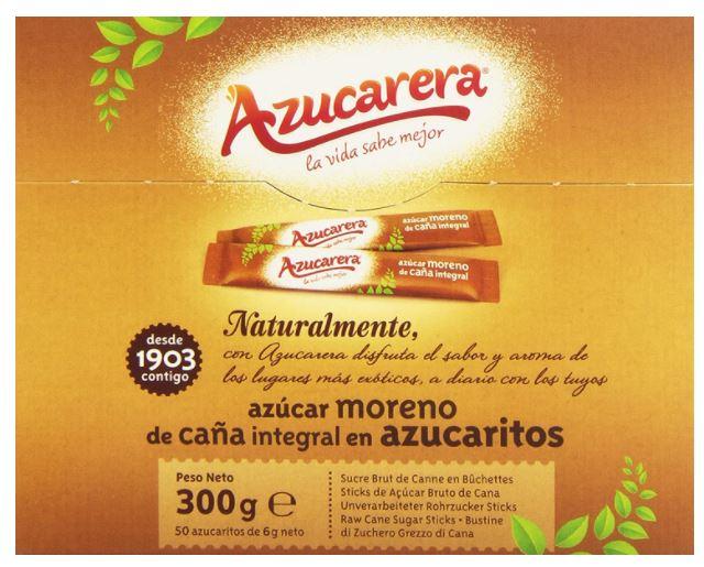 Paquete 50 sobres azucar moreno 6grs Azucarera