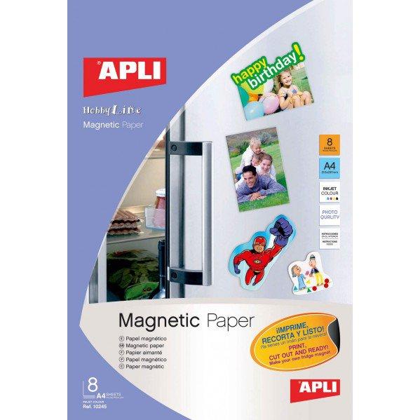 Papel Apli A4 blanco magnético 640gr (5h)