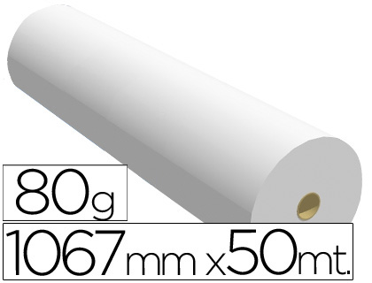 Papel opaco 1.067X50 MTS. 90 GRS.