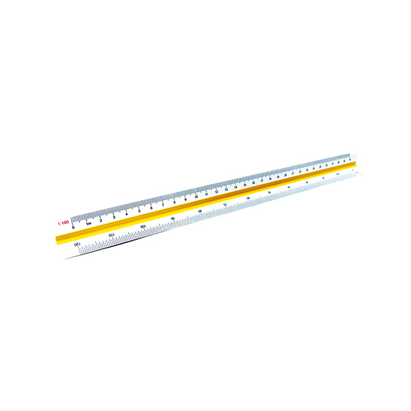 Escalímetro Makro Paper (Escala=1:100,200,250,300,400,500) 30cm.