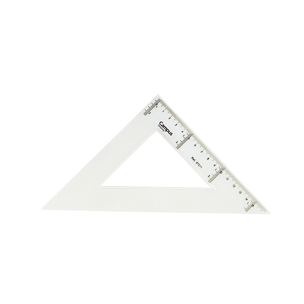 Escuadra Makro Paper de plástico 25cm.