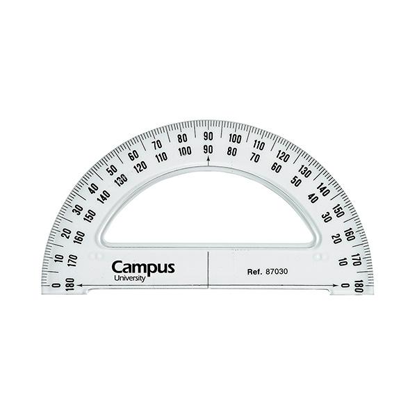 Semicírculo Campus biselado y graduado 13cm.