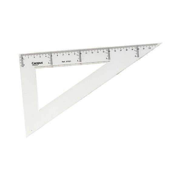 Cartabón Makro Paper de plástico 25cm.