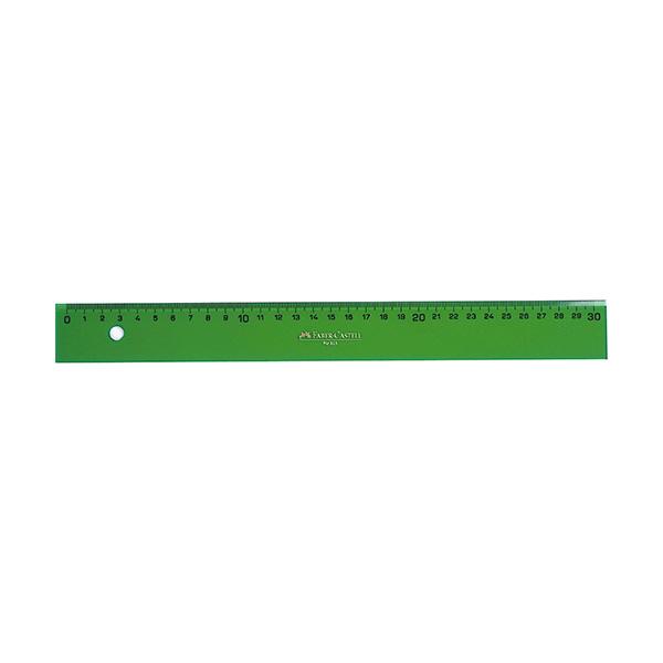 Regla Faber Castell Gama verde 30cm.