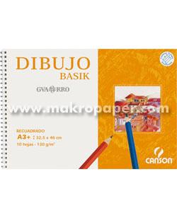 Papel dibujo Guarro gama basik Minipack 10h. Recuadro A4