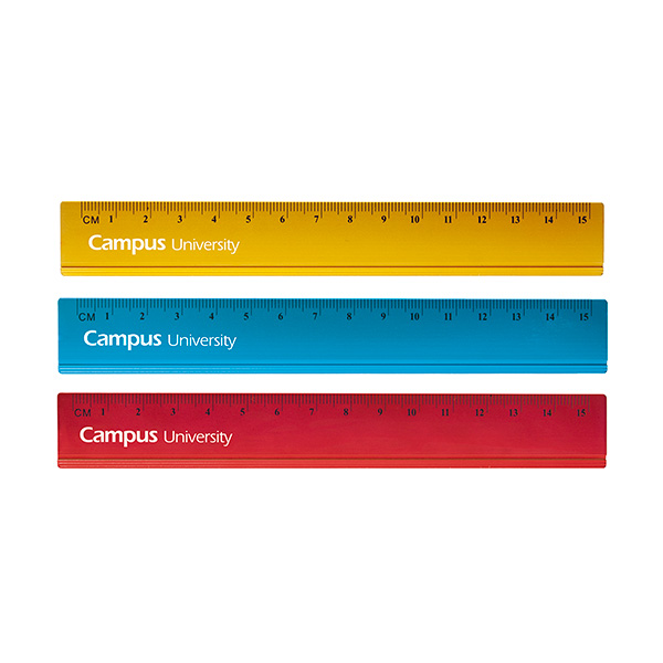Regla de aluminio colores Campus University 15 cm