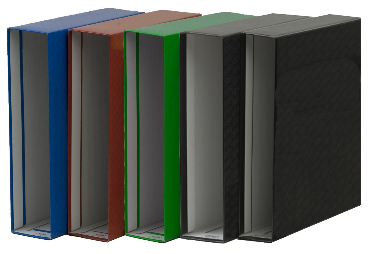 Cajetín para archivador Folio negro