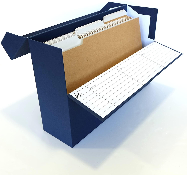 Caja archivo transferencia folio azul