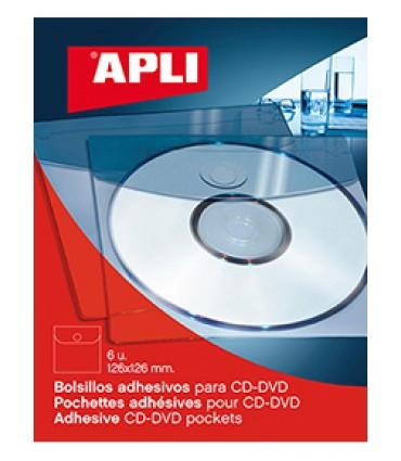 Bolsillo autoadhesivo para CD (pack 6)