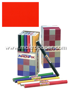 Papel adhesivo Unicolor mate. 45x20cm. Rojo