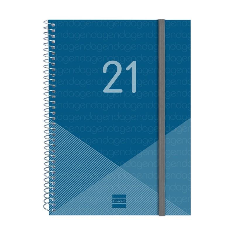 Agenda Finocam E10c espiral Year S/V azul