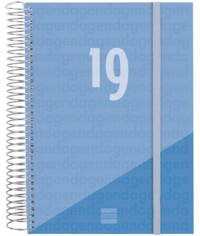 Agenda espiral Year E10 D/P 15x21 celeste CAT