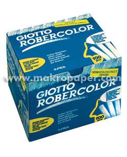 Tizas robercolor Fila blancas (caja 100uds)