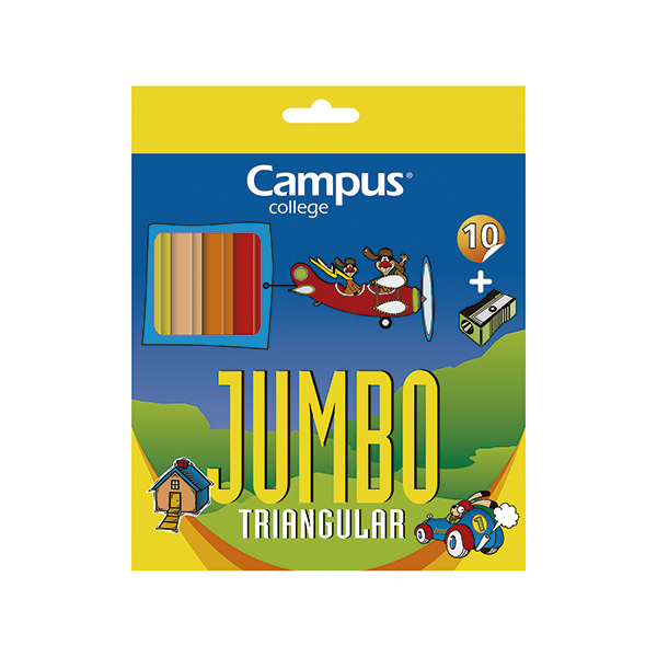 Lápices de colores Campus Jumbo (10 colores)