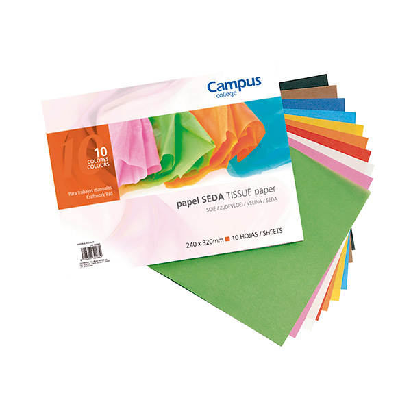 Bloc papel seda Campus University 8 colores