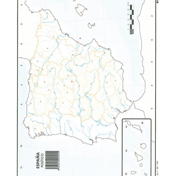 Mapas Mudos Makro Paper España Politico