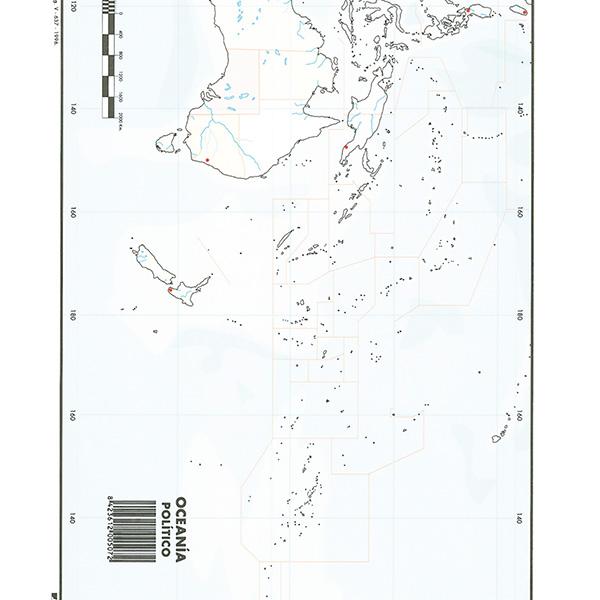 Mapas Mudos Makro Paper Oceania Politico