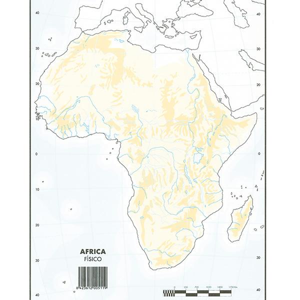 Mapas Mudos Makro Paper Africa Fisico