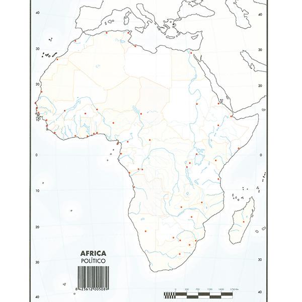 Mapas Mudos Makro Paper Africa Politico