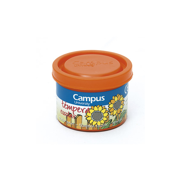 Témpera Campus University 5 botes 40 gr. Naranja