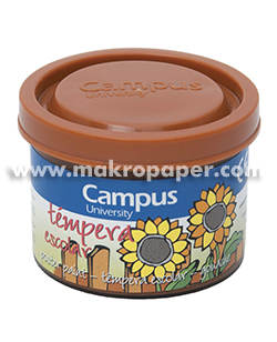 Témpera Campus University 5 botes 40gr. Marrón