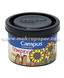 Témpera Campus University 5 botes 40gr. Negro