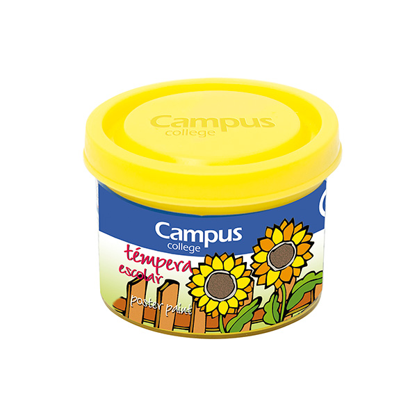 Témpera Campus University 5 botes 40gr. Amarillo