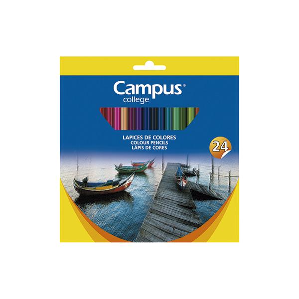 Caja 24u lápices de colores Campus University