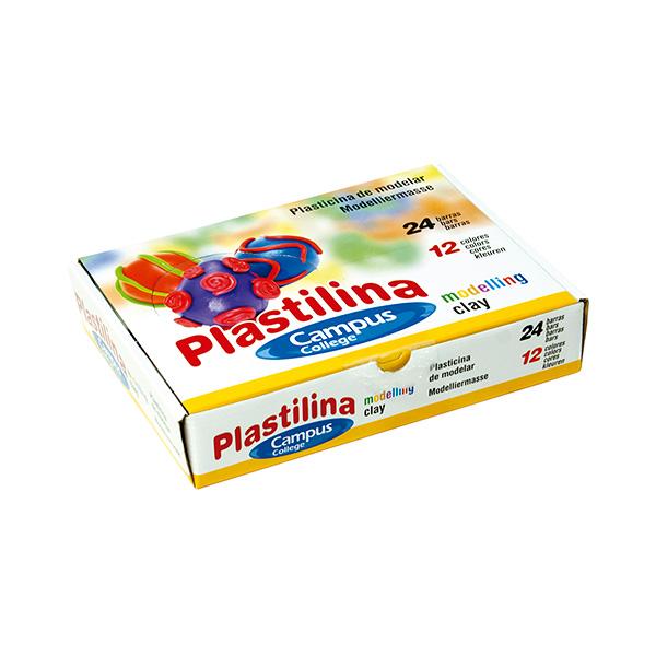 Plastilina Campus 60gr 24 unid 12 colores
